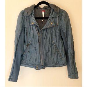 Free People Asymmetric Zip-Up Jacket